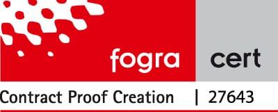 Das Fogra Zertifikat der Proof GmbH für den ISOCoatedV2 Standard Fogra 39