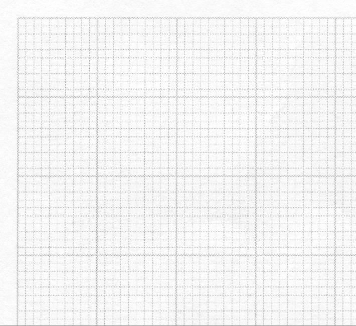 Moiré bei Millimeterraster: 45° Rasterwinkelung, 70er Raster