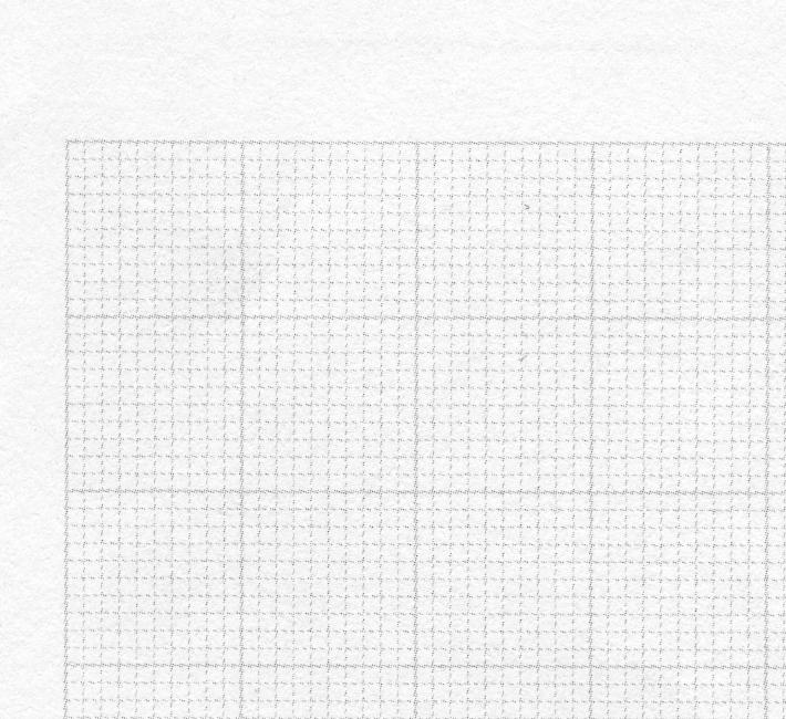 Kein Moiré bei Millimeterraster: 15° Rasterwinkelung, 80er Raster