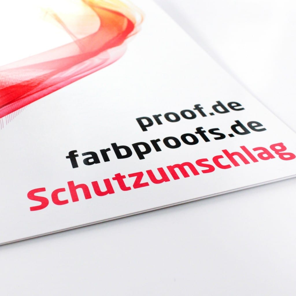proof.de Schutzumschlag für Proofs/Digitalproofs
