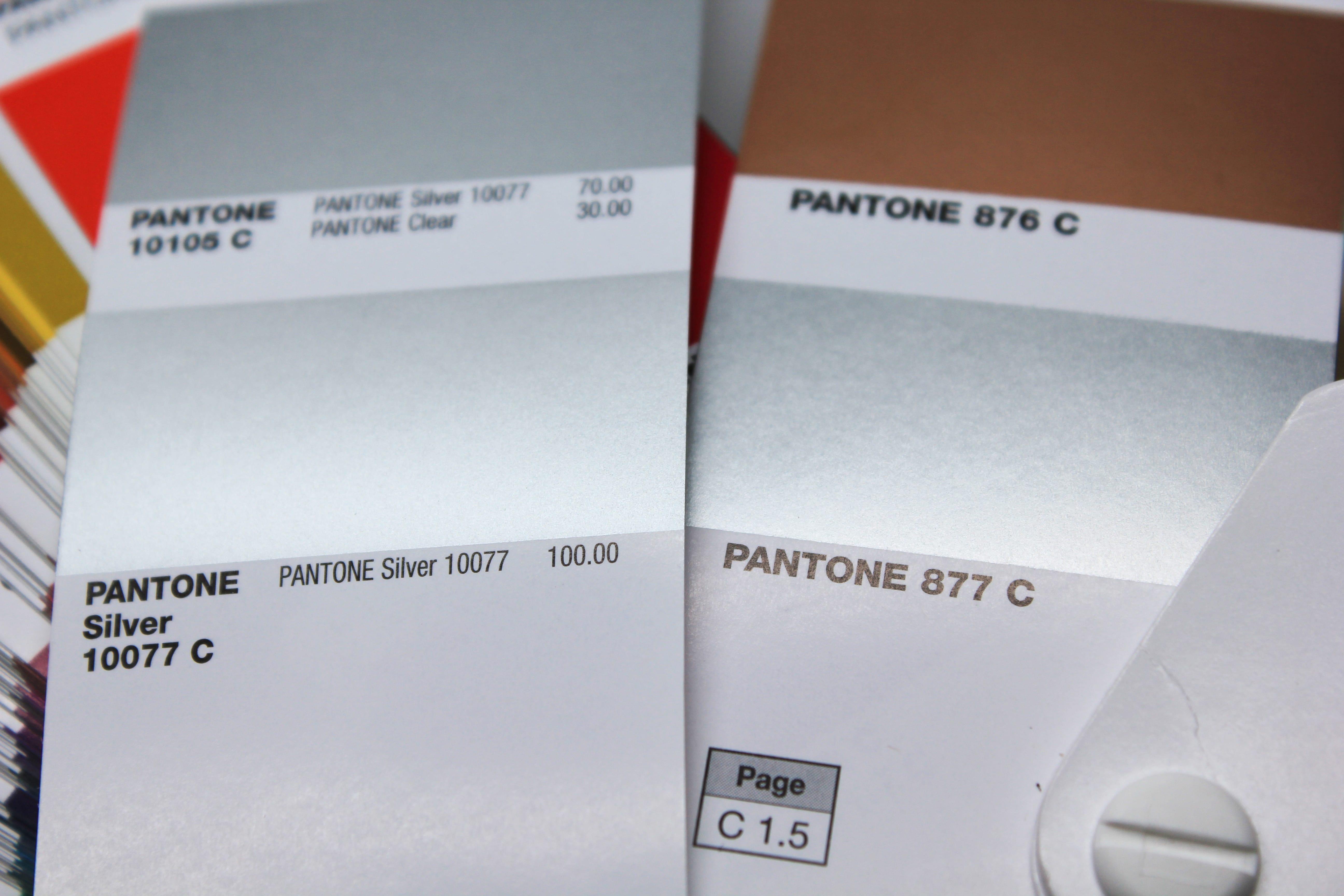 Pantone Premium Metallics Oder Pantone Matching System Metallics