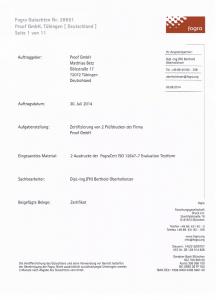 Fogra Prüfbericht der Proof GmbH Tübingen 2014