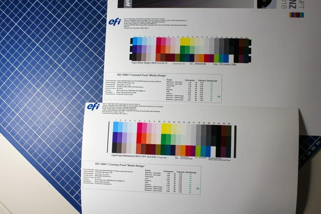 Unterschied Fiery XF 6.1 Spectroproofer ILS30 und ILS20 im UGRA/Fogra Medienkeil V3 CMYK