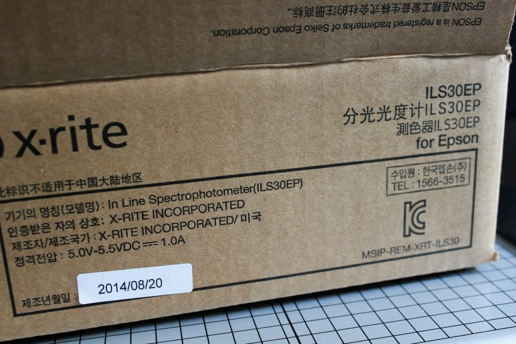 X-Rite Spectroproofer ILS30 Verpackung / Packaging