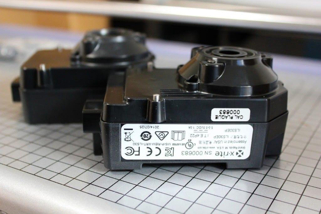 Detail X-Rite Spectroproofer ILS30 Messkopf und Vergleich zu X-Rite Spectroproofer ILS20
