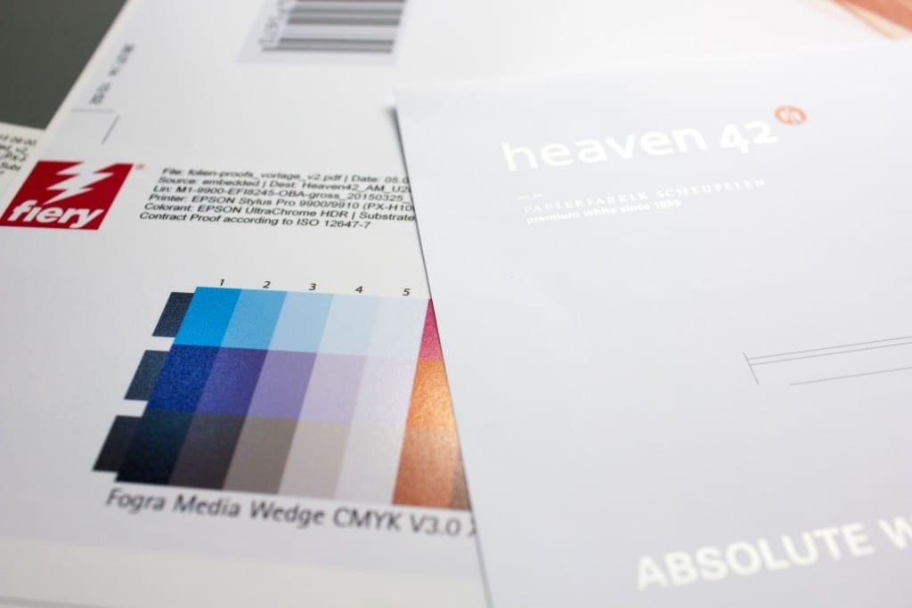 Scheufelen Heaven 42 Heaven42 Vergleich mit Digitalproof der Proof GmbH
