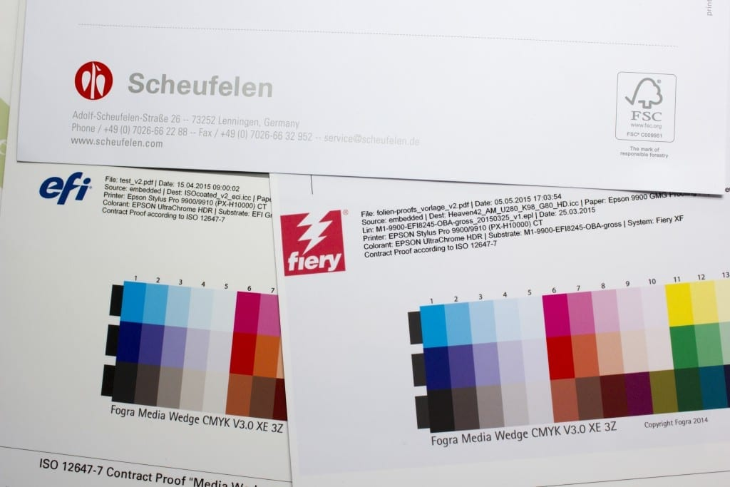 Scheufelen Heaven 42 Heaven42 Vergleich mit ISOCoatedV2 Digitalproof der Proof GmbH