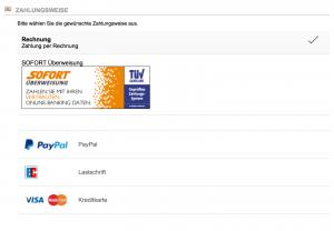 Neue Proof.de Zahlkarten: Lastschrift und Kreditkarte