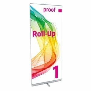 Proof.de Farbverbindliches Roll-up 1 auch mit PANTONE und HKS Farben