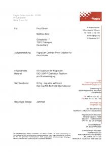 12-seitiger Fogra Prüfreport Proof GmbH 2017