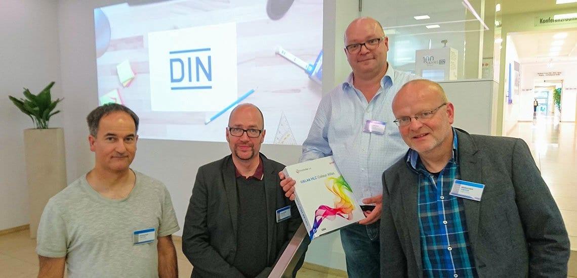 DIN SPEC 16699 Offene Farbkommunikation Abschlussmeeting Berlin Matthias Betz, Eric A. Soder, Jan-Peter Homann, Holger Everding