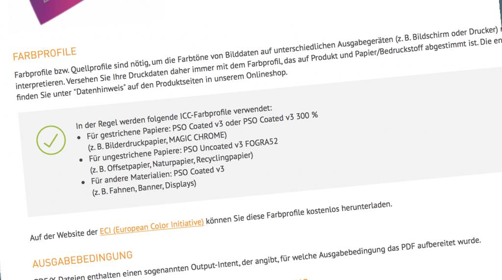 DieDruckerei.de hat auf die neuen Normen PSOCoatedV3 und PSOUncoatedV3 umgestellt