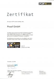 Proof GmbH PDFX-ready PDF/X-4 Proof Output Zertifizierung 2018