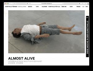"""Almost Alive"" Kunsthalle Tübingen"