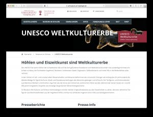 Weltkulturerbe Eiszeitkunst Tübingen