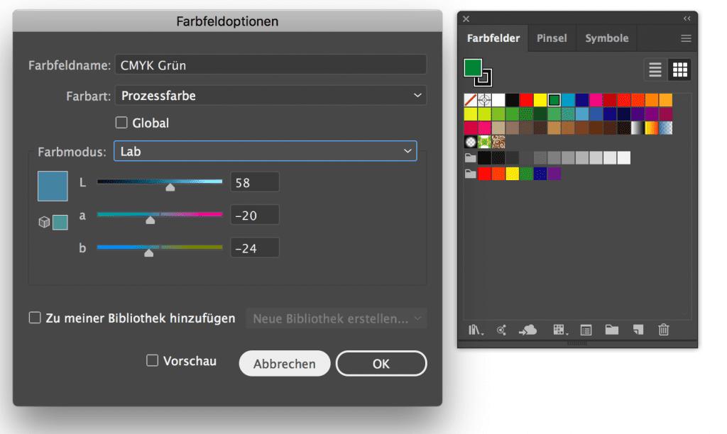Adobe Illustrator 2019 Farbwähler LAB Eingabe nur ohne Nachkommastellen möglich