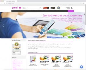 Startseite von shop.proof.de